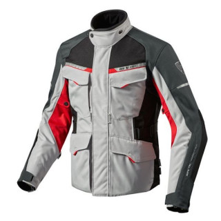 REV'IT JACKET OUTBACK 2 - SILVER RED