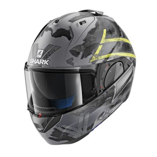 SHARK EVO-ONE 2 SKULD MAT HELMET- ANTHRACITE-YELLOW-BLACK