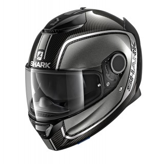 SHARK SPARTAN CARBON PRIONA HELMET - CARBON-ANTHRACITE-SILVER