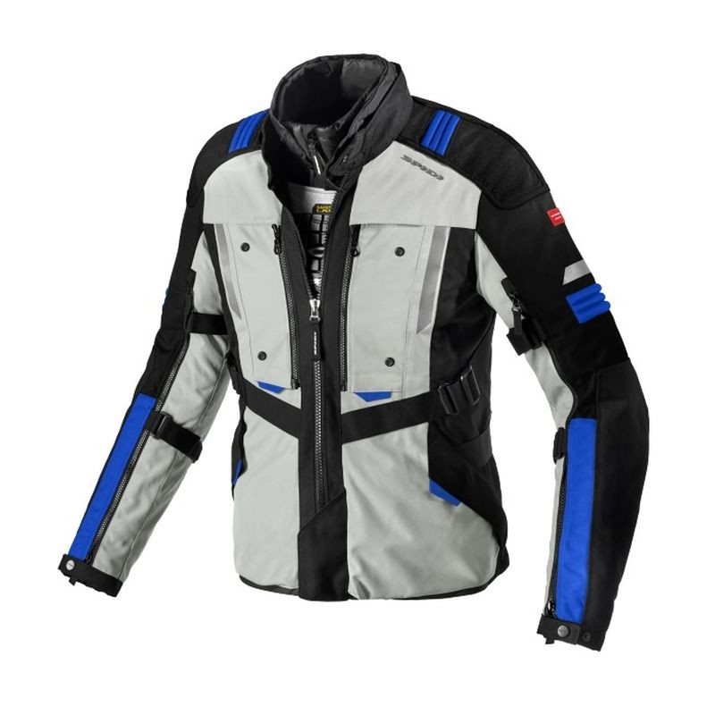 SPIDI Giacca Impermeabile Moto Traveler 2 H2out Robust Nero Xxl, Nero