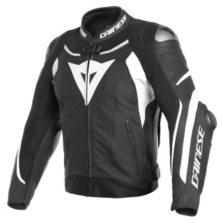 GIACCA DAINESE SUPER SPEED 3 LEATHER JACKET - BLACK-WHITE