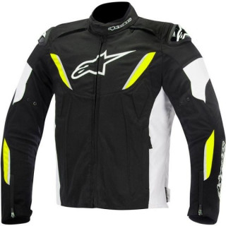ALPINESTARS T-GP R WATERPROOF JACKET - BLACK WHITE YELLOW FLUO