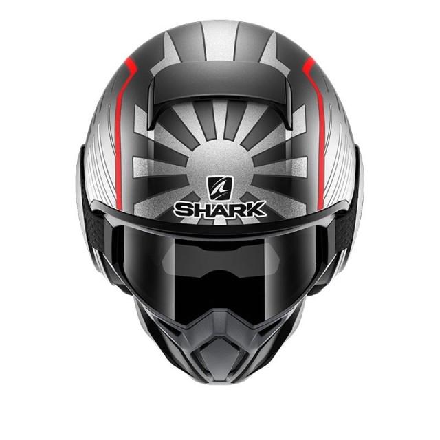SHARK STREET-DRAK REPLICA ZARCO MALAYSIAN GP MAT SILVER - FRONT