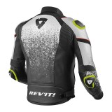 REV'IT QUANTUM JACKET - Black-White - BACK