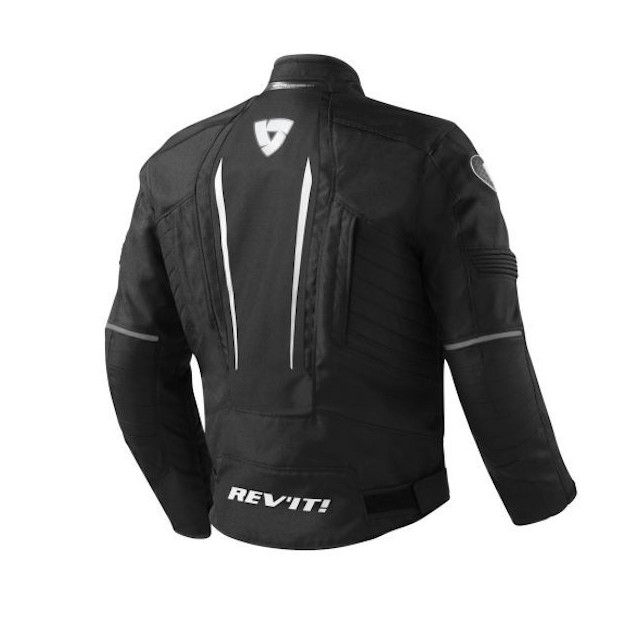 REV'IT JACKET SHIELD BLACK - BACK