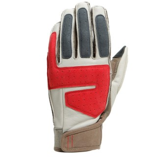 DAINESE 72 ARLIT UNISEX GLOVES - Feather Gray-Morel-Pompeian Red