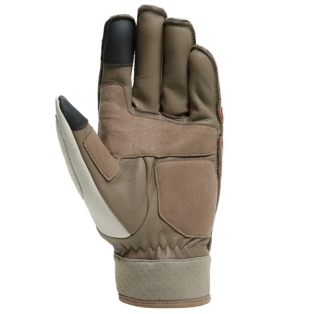 DAINESE 72 ARLIT UNISEX GLOVES - Feather Gray-Morel-Pompeian Red - DETAIL