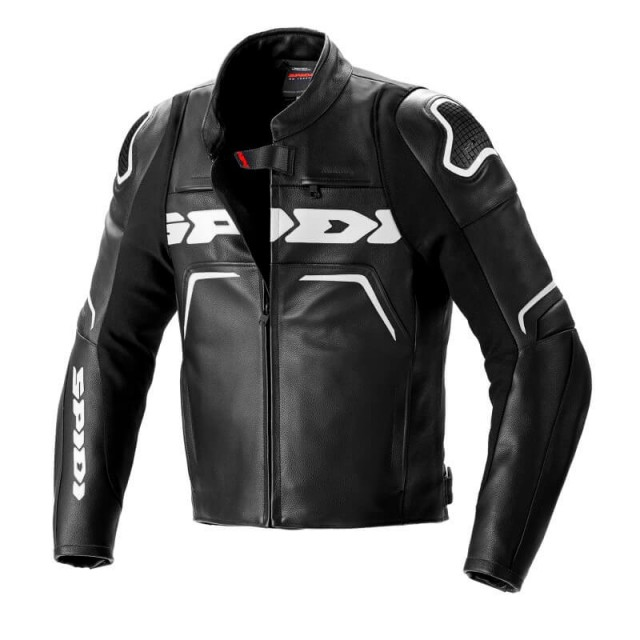 SPIDI EVORIDER 2 LEATHER JACKET - BLACK WHITE
