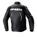 SPIDI EVORIDER 2 LEATHER JACKET BLACK WHITE - BACK