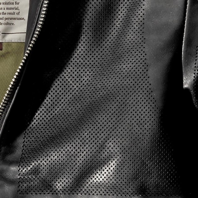 SPIDI GARAGE PERFORATED LEATHER JACKET - DETAIL