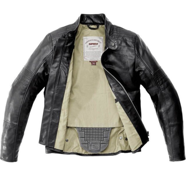 SPIDI GARAGE PERFORATED LEATHER JACKET - OPEN