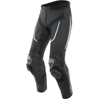 DAINESE ALPHA PERFORATED LEATHER PANTS - BLACK