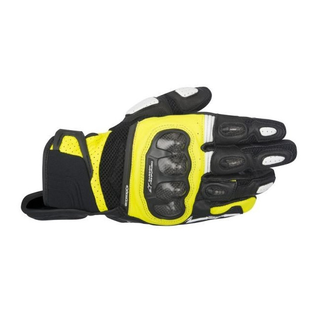 ALPINESTARS SPX AIR CARBON GLOVE - BLACK YELLOW FLUO
