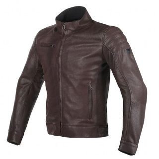 DAINESE BRYAN LEATHER JACKET - BROWN