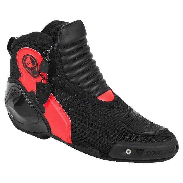 DAINESE DYNO D1 SHOES - BLACK FLUO RED