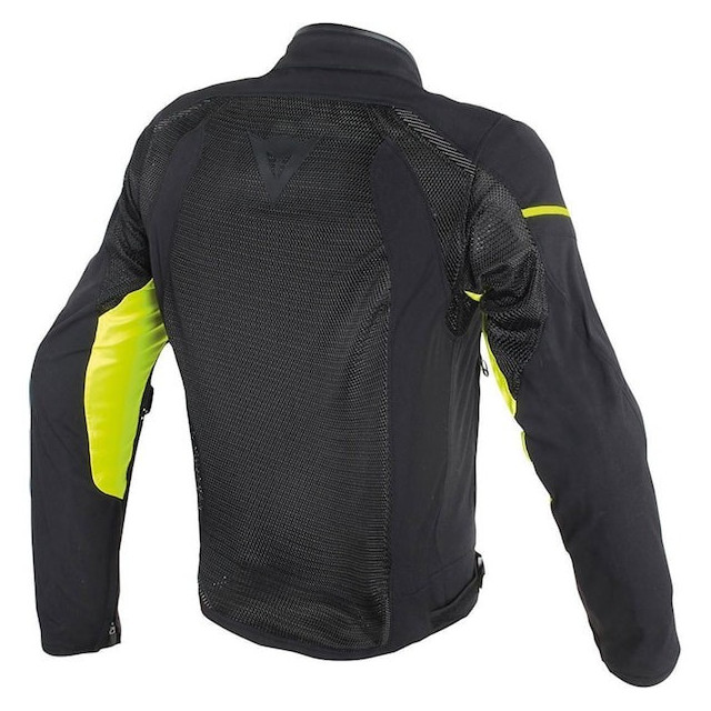 DAINESE AIR FRAME TEX BLACK YELLOW FLUO - BACK