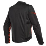 DAINESE BORA AIR TEX JACKET - Black-Fluo Red - BACK