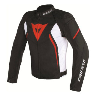 GIACCA DAINESE AVRO D2 TEX JACKET- BLACK WHITE RED