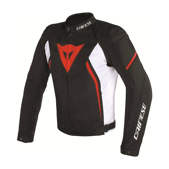 DAINESE AVRO D2 TEX JACKET- BLACK WHITE RED
