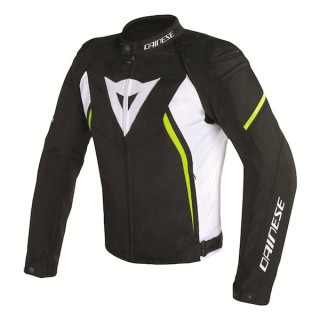 DAINESE AVRO D2 TEX JACKET- BLACK WHITE FLUO YELLOW