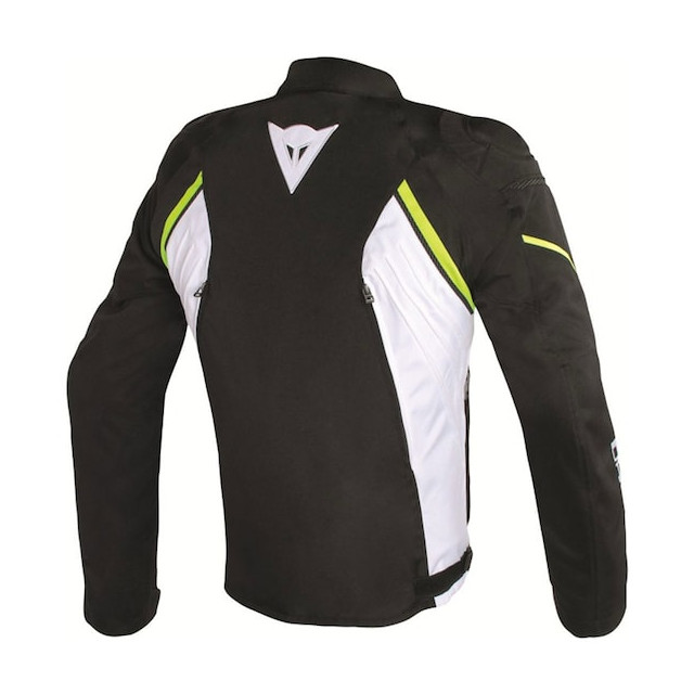 DAINESE AVRO D2 TEX JACKET BLACK WHITE FLUO YELLOW - BACK