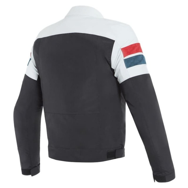 DAINESE 8-TRACK TEX JACKET - Black-Ice-Red - BACK