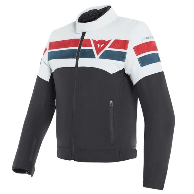 DAINESE 8-TRACK TEX JACKET - Black-Ice-Red