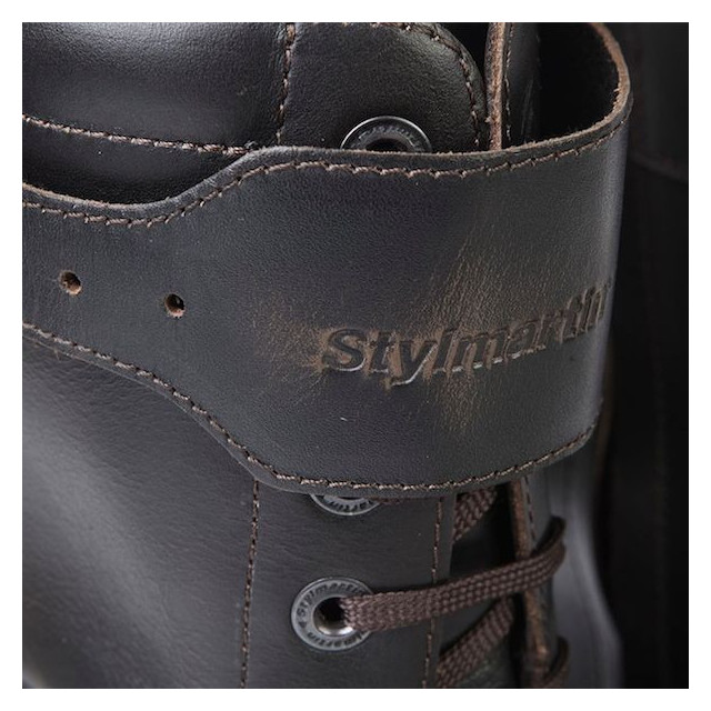 STYLMARTIN ROCKET BOOTS DARK BROWN - SHIN CLOSURE