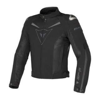 DAINESE SUPER SPEED TEX JACKET - BLACK DARK GULL GRAY