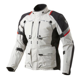 REV'IT JACKET POSEIDON GTX - LIGHT GREY BLACK
