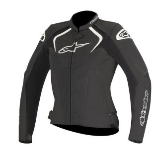 GIACCA ALPINESTARS STELLA JAWS LEATHER JACKET - NERO