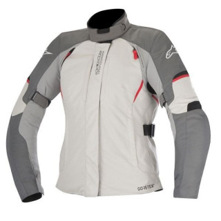 ALPINESTARS STELLA ARES GORE-TEX JACKET - DARK GRAY LIGHT GRAY RED