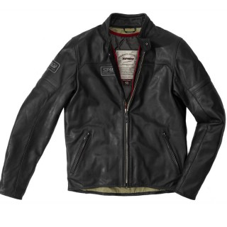 SPIDI VINTAGE LEATHER JACKET - Black