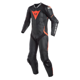 DAINESE LAGUNA SECA 4 1PC PERF SUIT - Black-Fluo Red