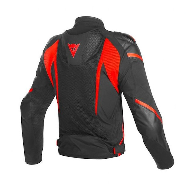 DAINESE SUPER RIDER D-DRY JACKET BLACK RED FLUO - BACK