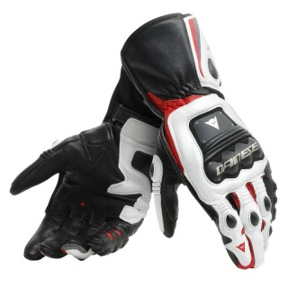 DAINESE STEEL-PRO GLOVES - BLACK-WHITE-RED