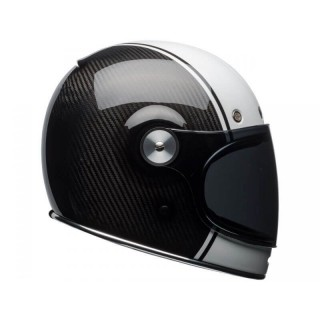 BELL BULLIT CARBON PIERCE WHITE HELMET - Dark visor