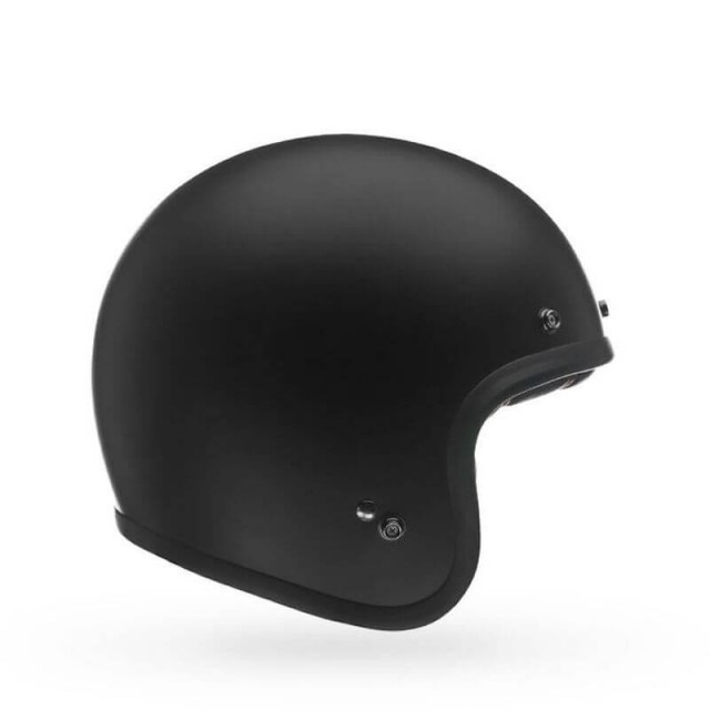 BELL CUSTOM 500 MATT BLACK OPEN FACE HELMET