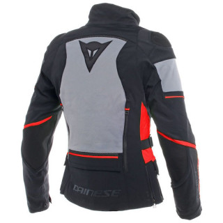 DAINESE CARVE MASTER 2 LADY GORE-TEX JACKET - Black-Frost Grey-Red - BACK
