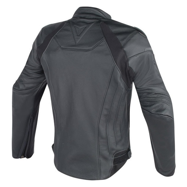 DAINESE FIGHTER LEATHER JACKET BLACK - BACK