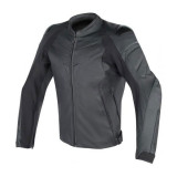 DAINESE FIGHTER LEATHER JACKET  - BLACK
