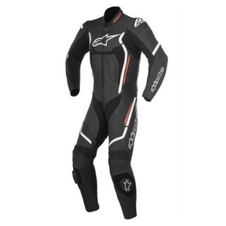 ALPINESTARS MOTEGI V2 LEATHER SUIT - BLACK WHITE RED FLUO