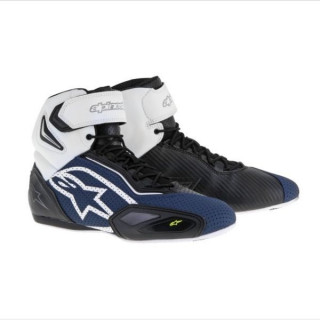 ALPINESTARS FASTER-2 VENTED SHOE - BLACK NAVY WHITE YELLOW FLUO