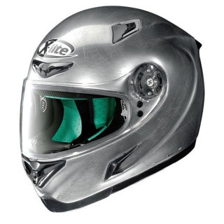 X-LITE X-802RR START SCRATCHED CHROME HELMET HELMET