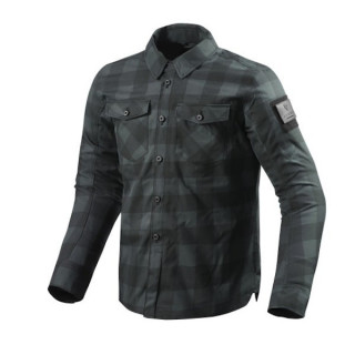 REV'IT OVERSHIRT BISON - BLACK GREY