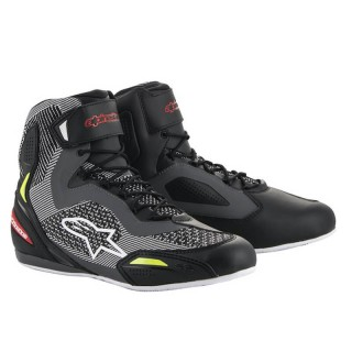 ALPINESTARS FASTER-3 RIDEKNIT SHOES - BLACK GREY RED YELLO FLUO