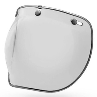 BELL CUSTOM 500 3-SNAP BUBBLE DLX SHIELD CLEAR