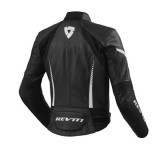 REV'IT JACKET XENA 2 LADIES BLACK WHITE - BACK