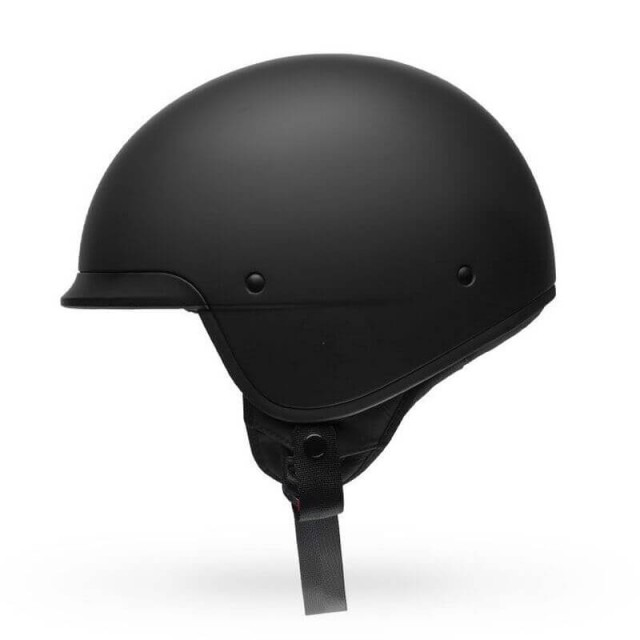 BELL SCOUT AIR OPEN FACE HELMET MATT BLACK (SIDE)
