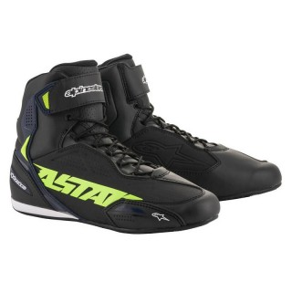 ALPINESTARS FASTER-3 SHOES - BLACK YELLOW FLUO BLUE